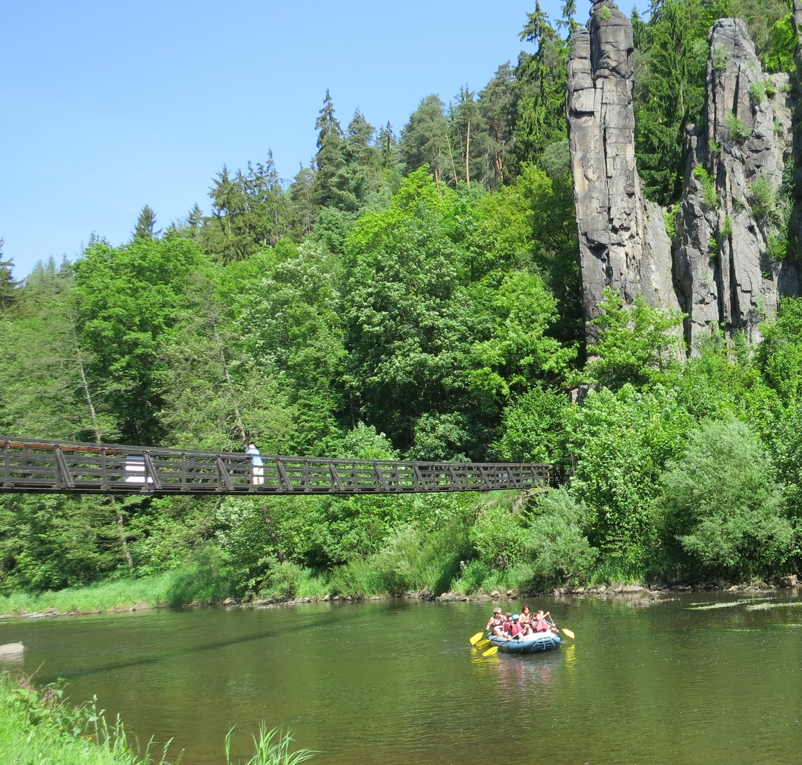 КАнатный мост в Чехии
