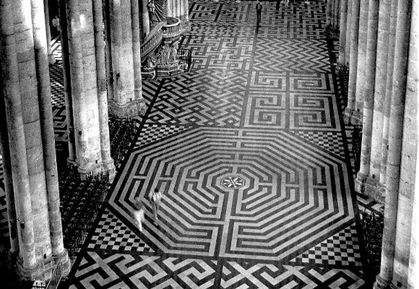 Пол Амьенского собора - Франция