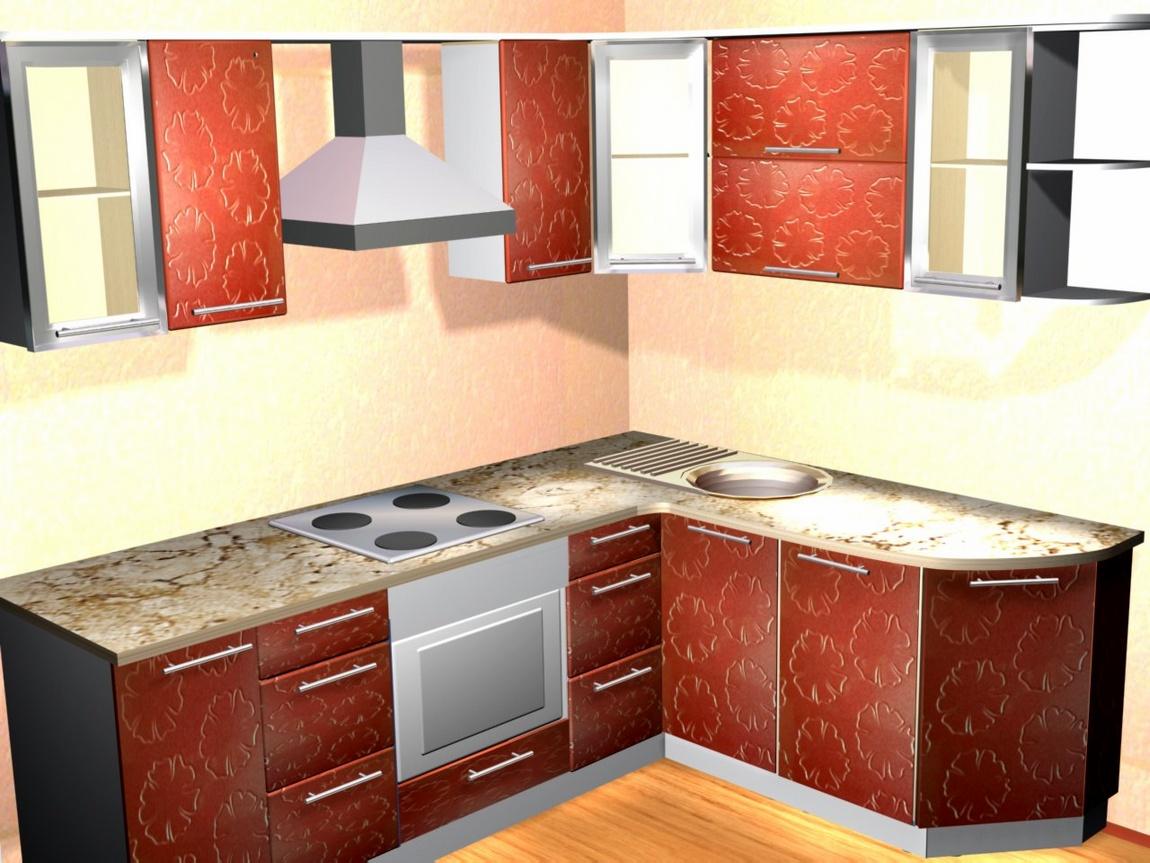 Кухня красная