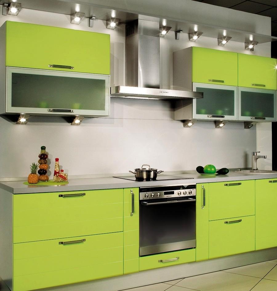 Кухня зелёная