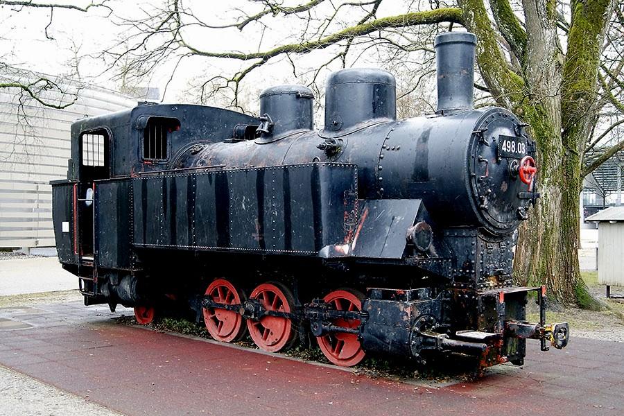 Старый локомотив в Австрии