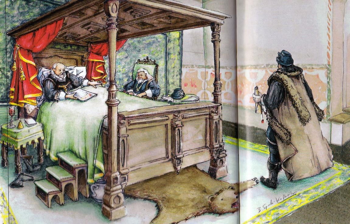 Кровать в средневековом замке
