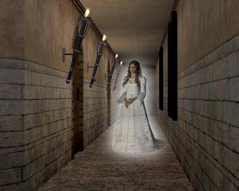 белая дама - привидение