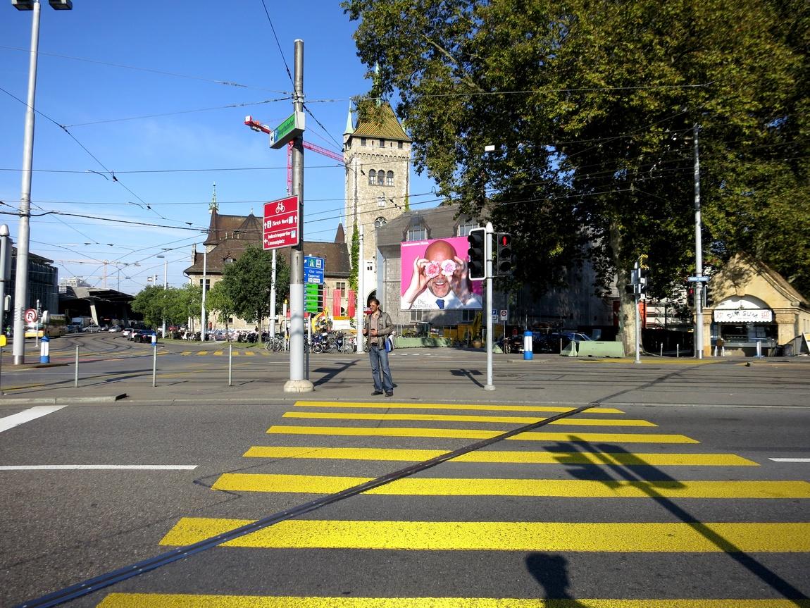 Пешеходный перекрёсток (Цюрих) в Швейцарии