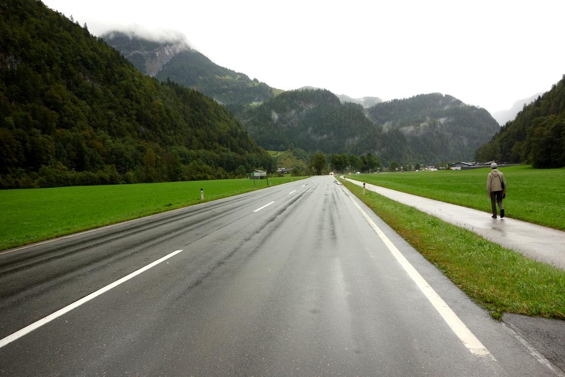 Горная дорога в горах Австрии