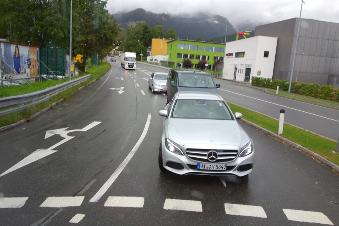 Перекрёсток дороги в Австрии