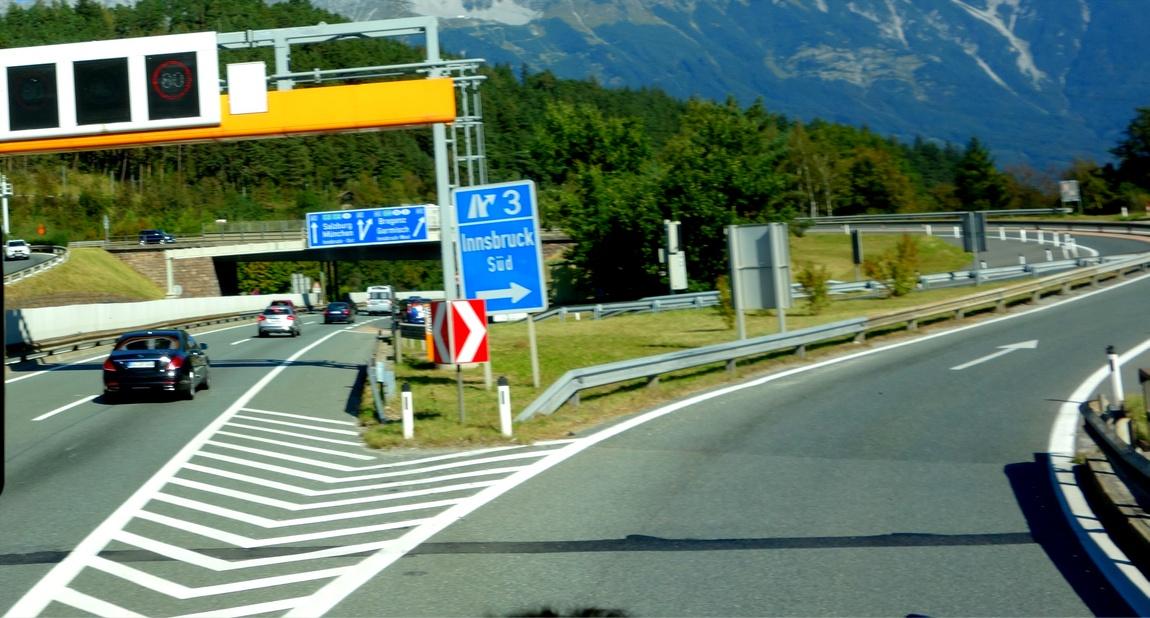 Развилка дороги в Австрии
