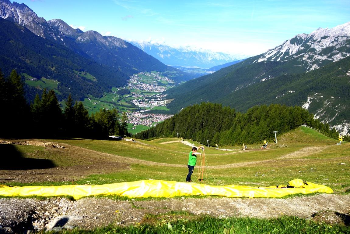 Гора Elfer в Австрии и долина Штубай
