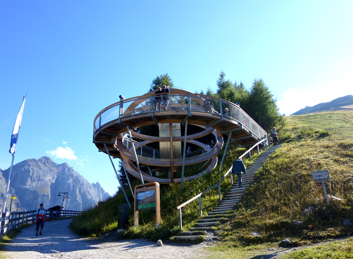 Солнечные часы в Австрии на горе Elfer