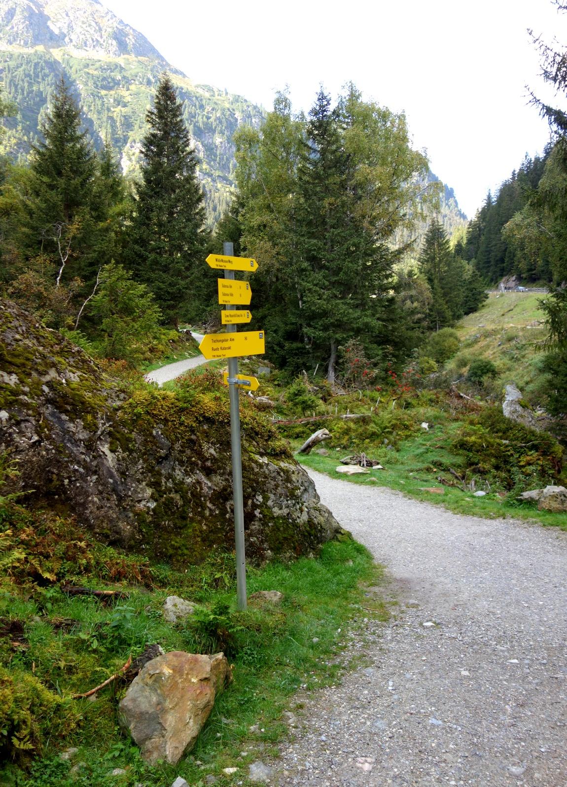 Австрия - указатели в пути