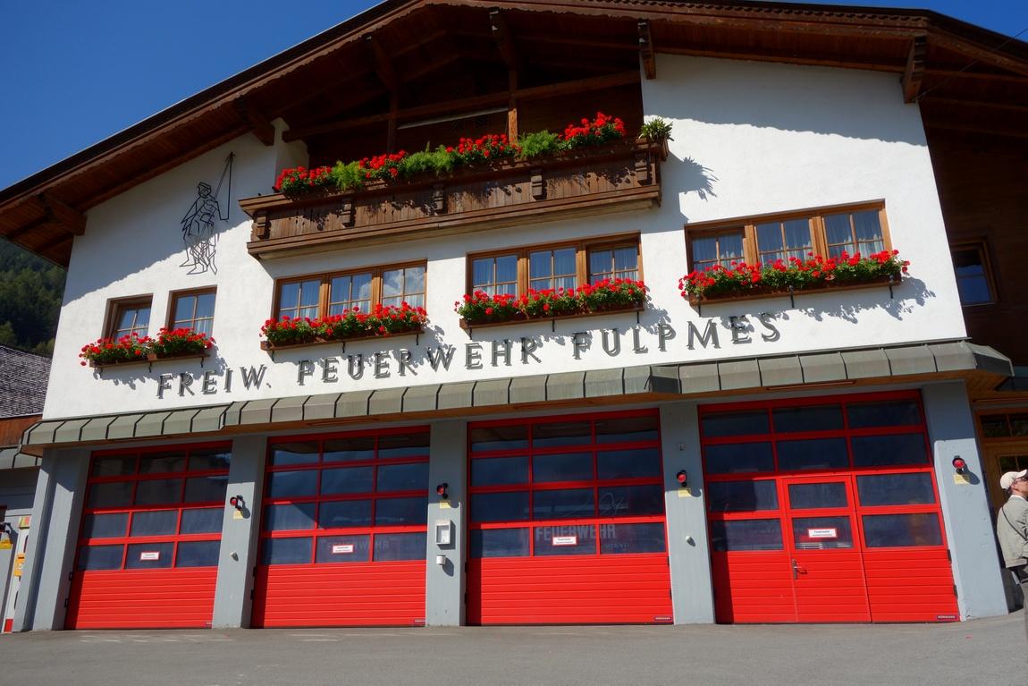 Станция пожарной помощи в посёлке Фулпмес (Австрия)