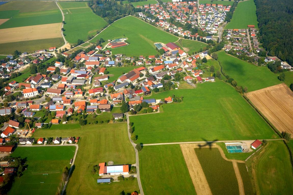 Над Мемминген - Германия - тень от самолёта