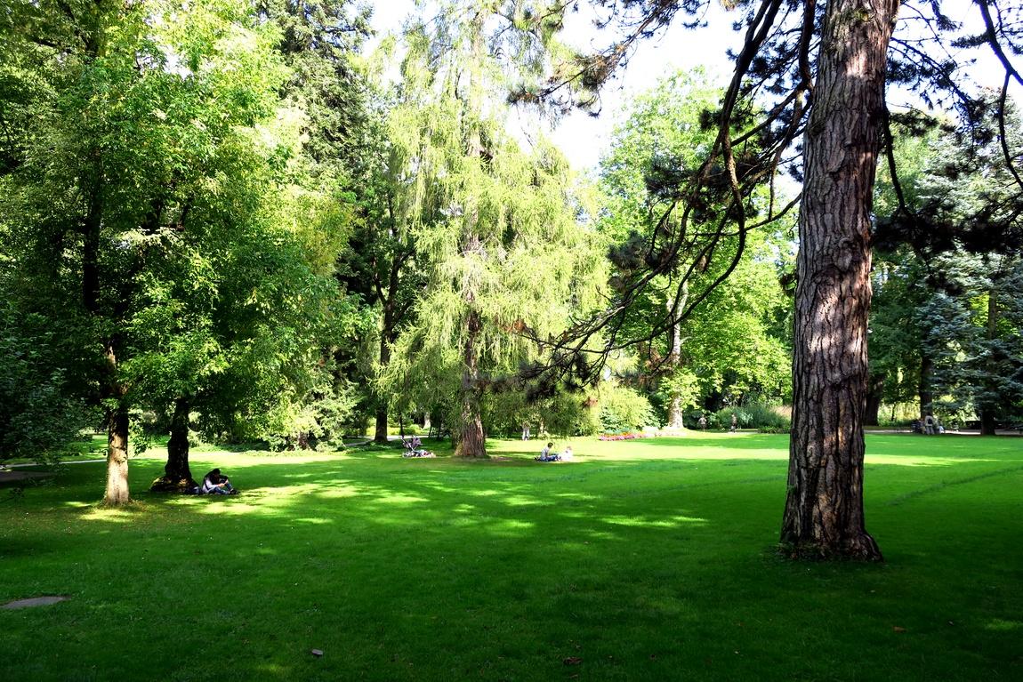 Парк в Инсбурге (Австрия)