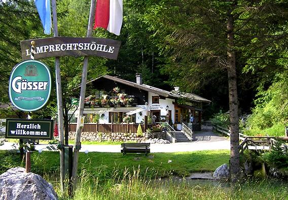 Гостевой дом и касса в пещеру Lamprechtshöhle