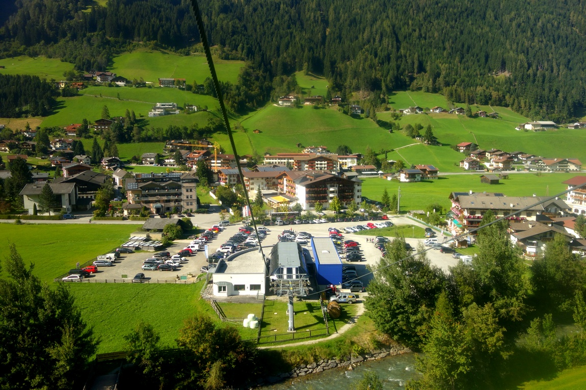 Гора «Elfer» подъём на канатке в Австрии