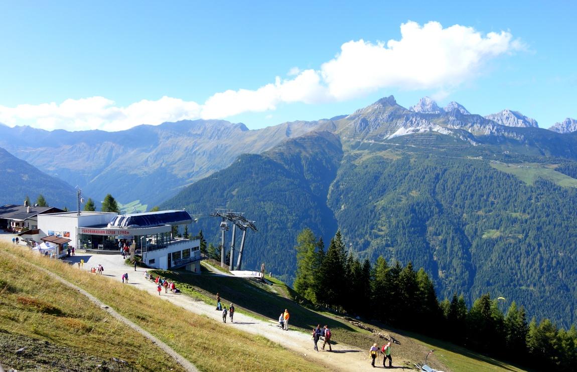 Панорама с горы Elfer в Австрии