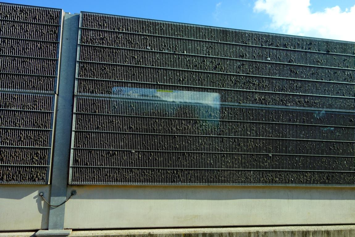 Шумозащитная стена в Австрии.