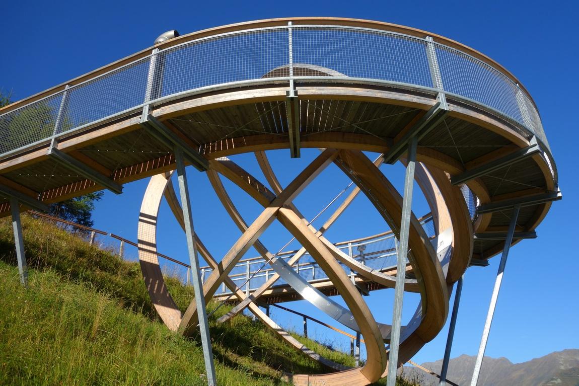 Солнечные часы на горе Elfer в Австрии