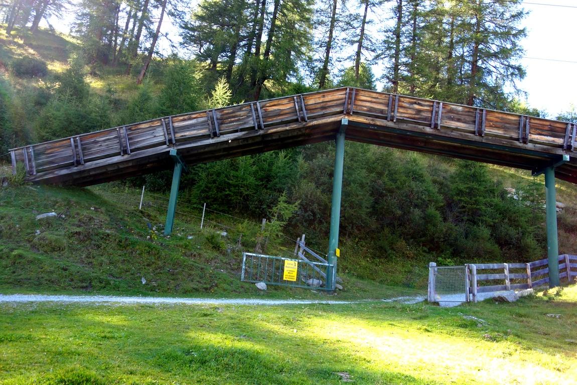Странный мостик на горе Elfer в Австрии