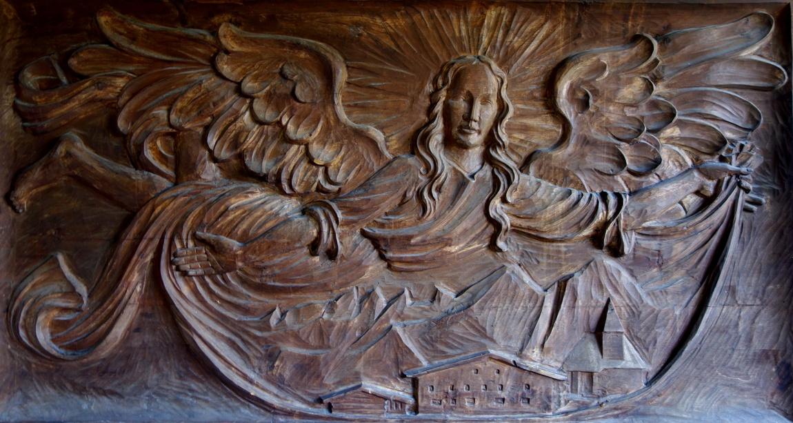 Ангел над горами Австрии - панно