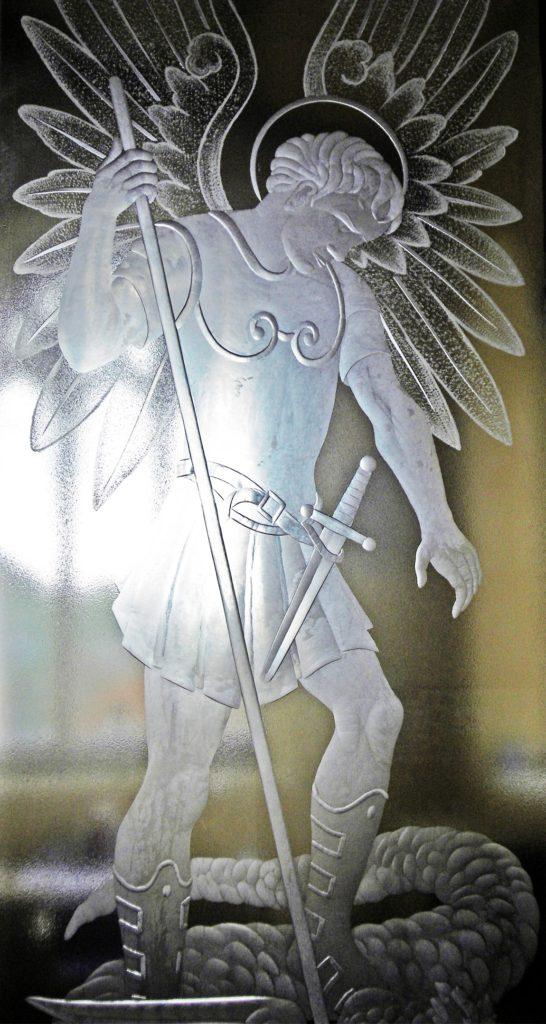 Чеканка Св. Георгий - победоносец в храме Св Михаила (Олдбурн)
