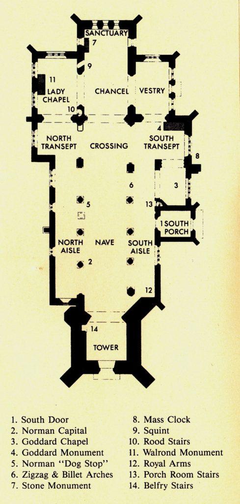 Планировка храма Св. Михаила Олдбурн (Англия)