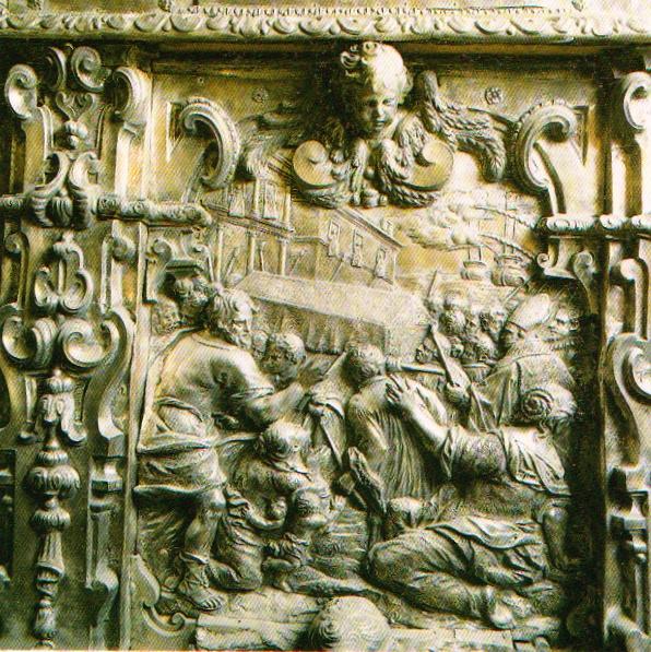 Серебряный алтарь - прибытие и перенесение мощей  Св. Николая в Бари.