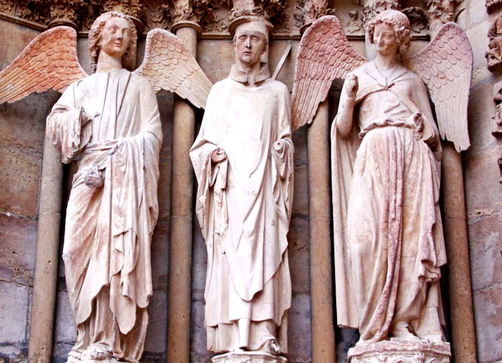 Ангелы на Реймском соборе