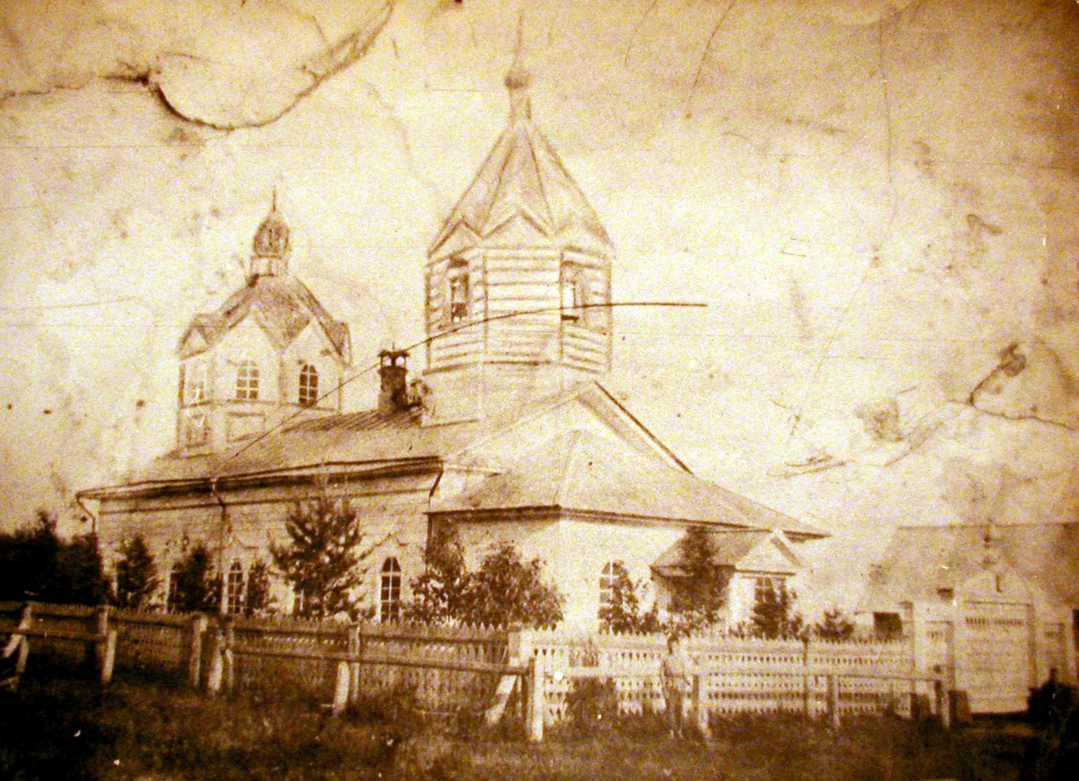 Деревянная церковь в Кутузове (Зыково) Яранский р.