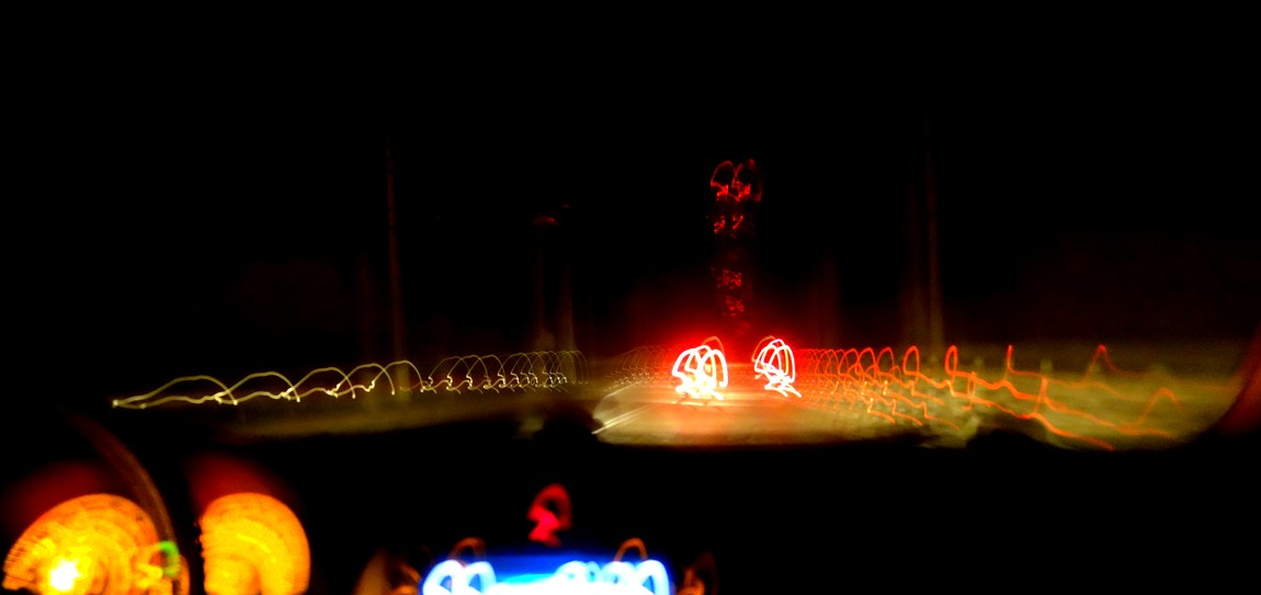 Ночная дорога в Крыму