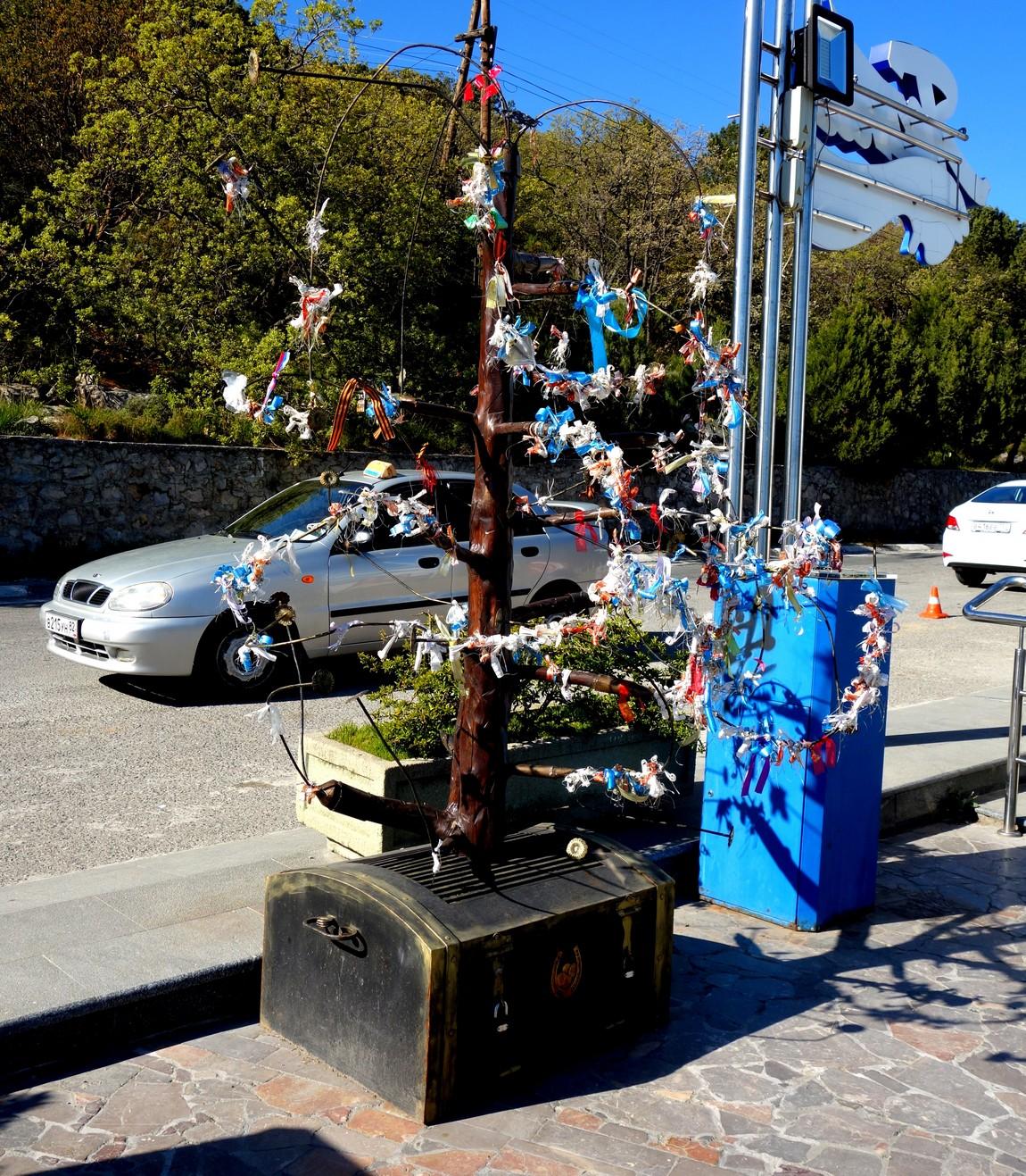 Дерево пожеланий в Ялте