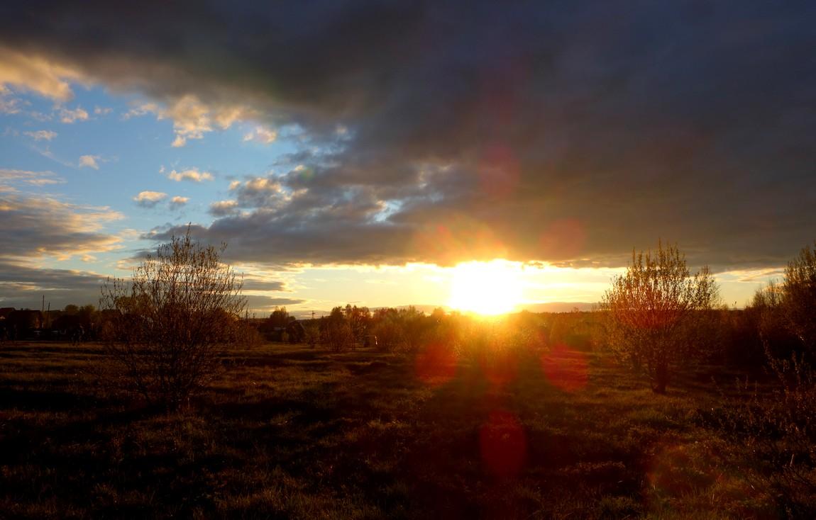 Проблеснувшее солнце
