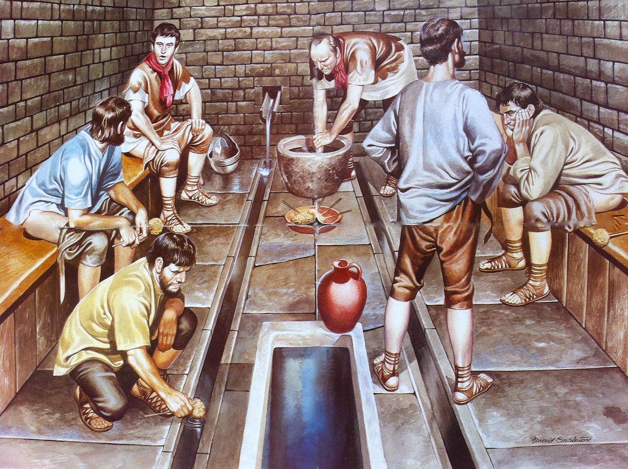 Туалет древнего Рима