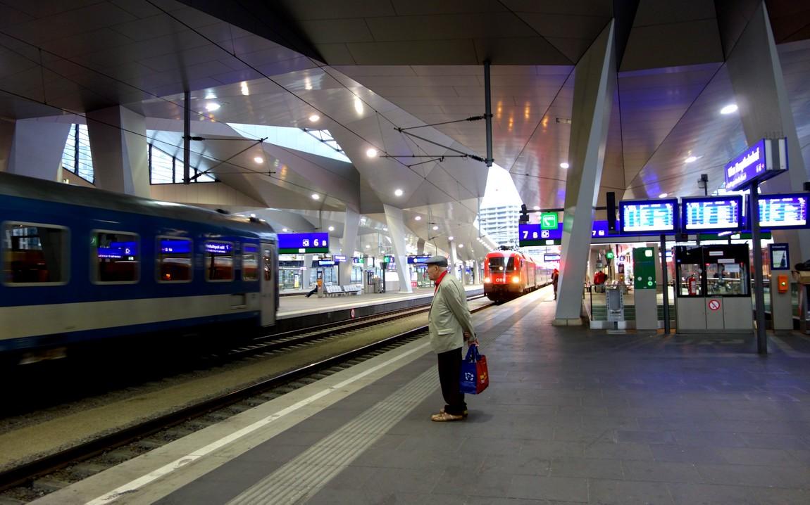 Вокзал Вены в Австрии
