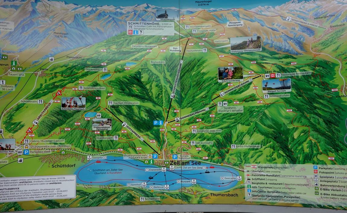 Карта маршрутов из Цель-ам-Зее