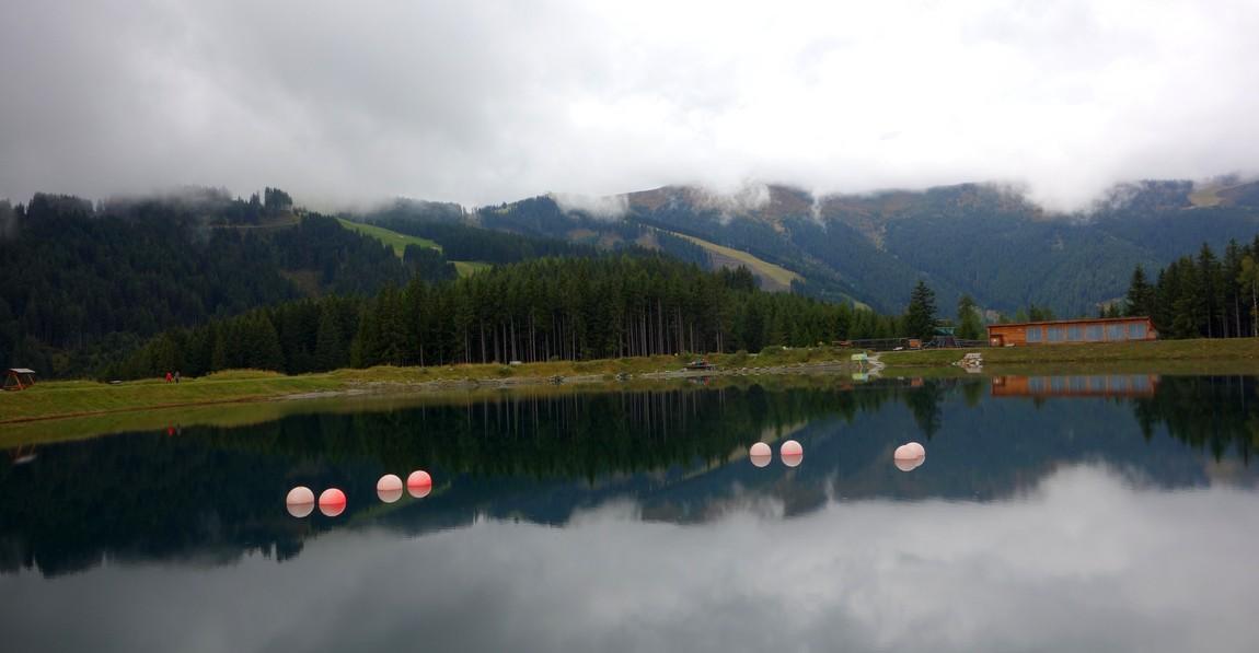 Искусственное озеро в горах Цель-ам-Зее