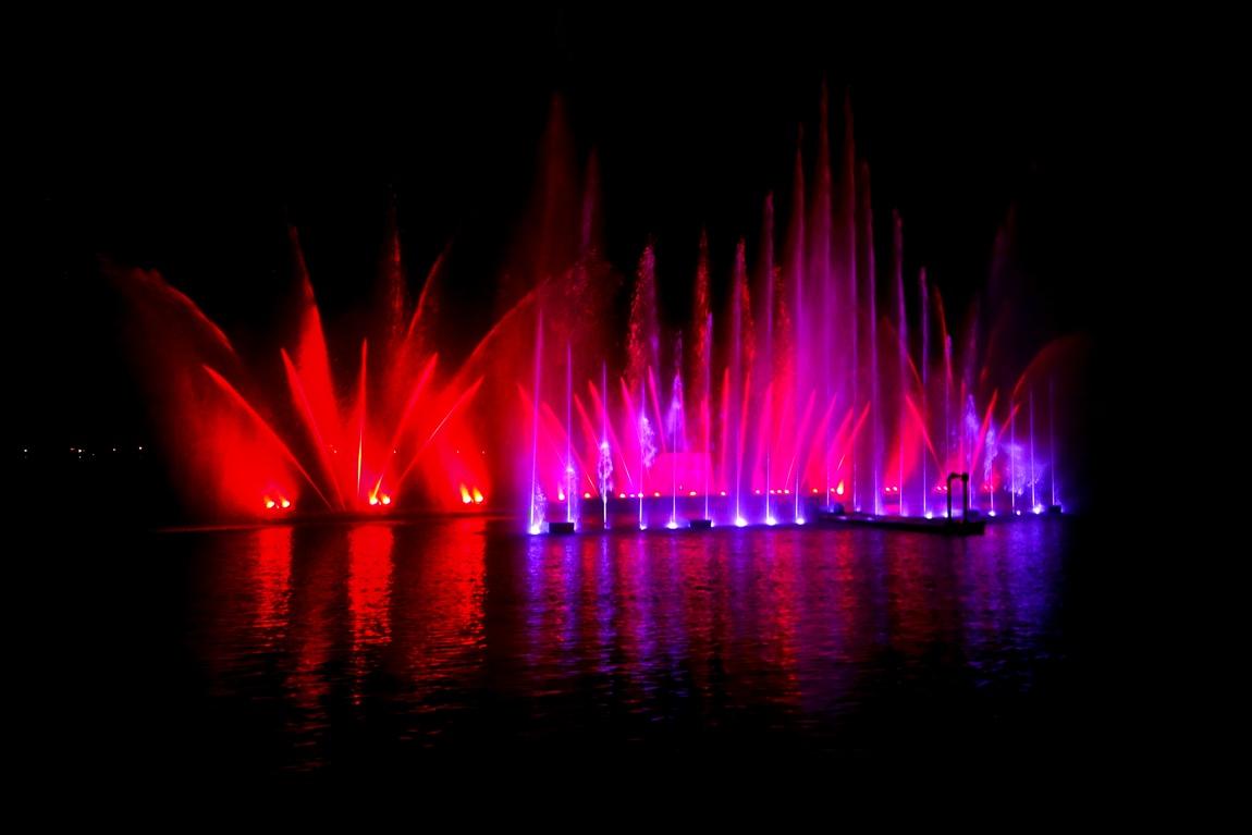 Шоу фонтанов в Цель-ам-Зее