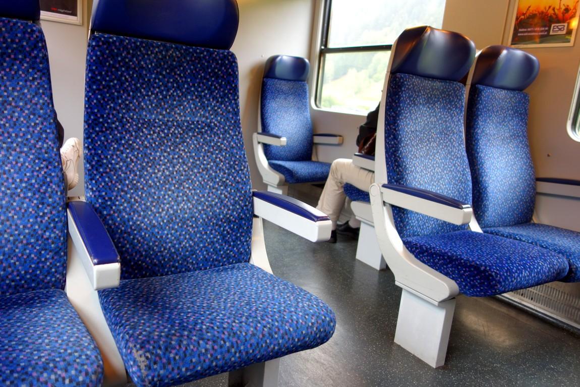 Мягкие сидения вагонов Австрии