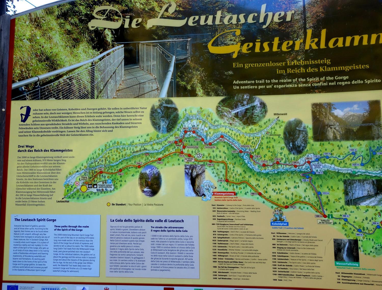 Схема ущелья Лойташ (Австрия)