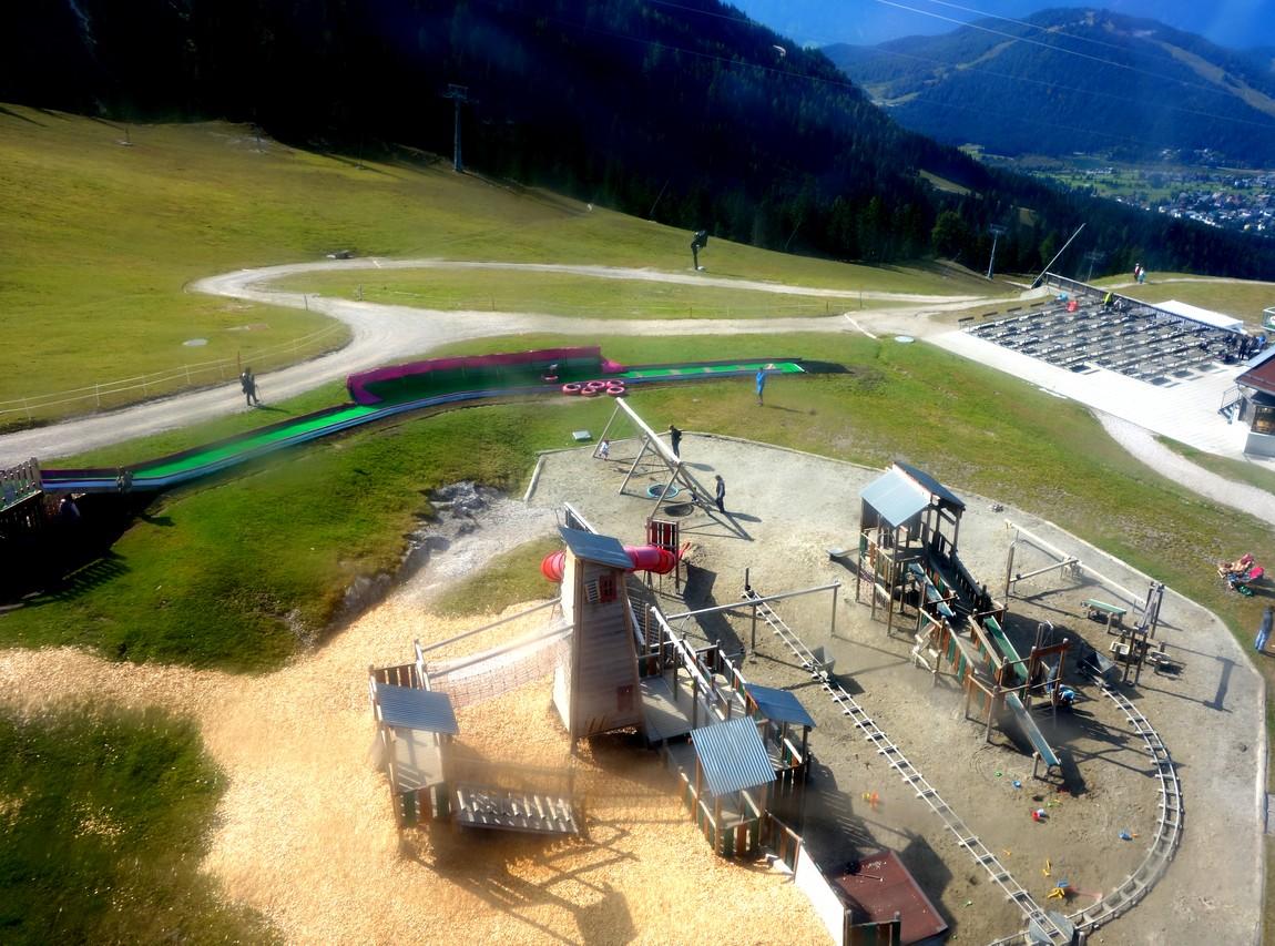 Канатка Harmelekopfbahn - Австрия -детская площадка