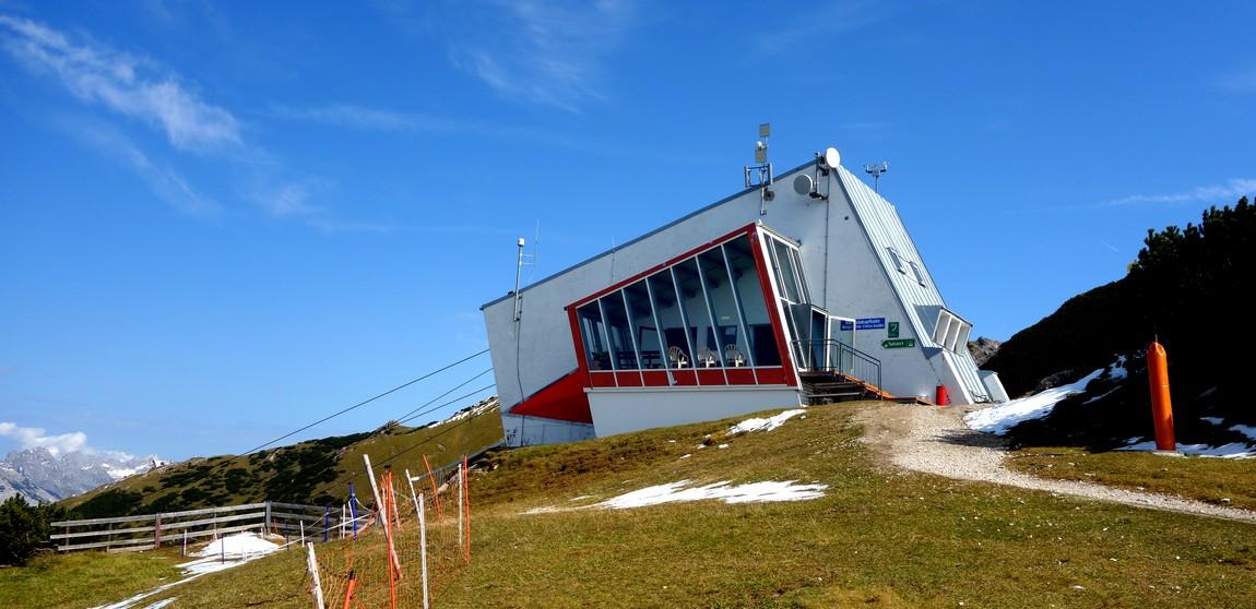 Канатка Harmelekopfbahn - Австрия - конечная станция на горе
