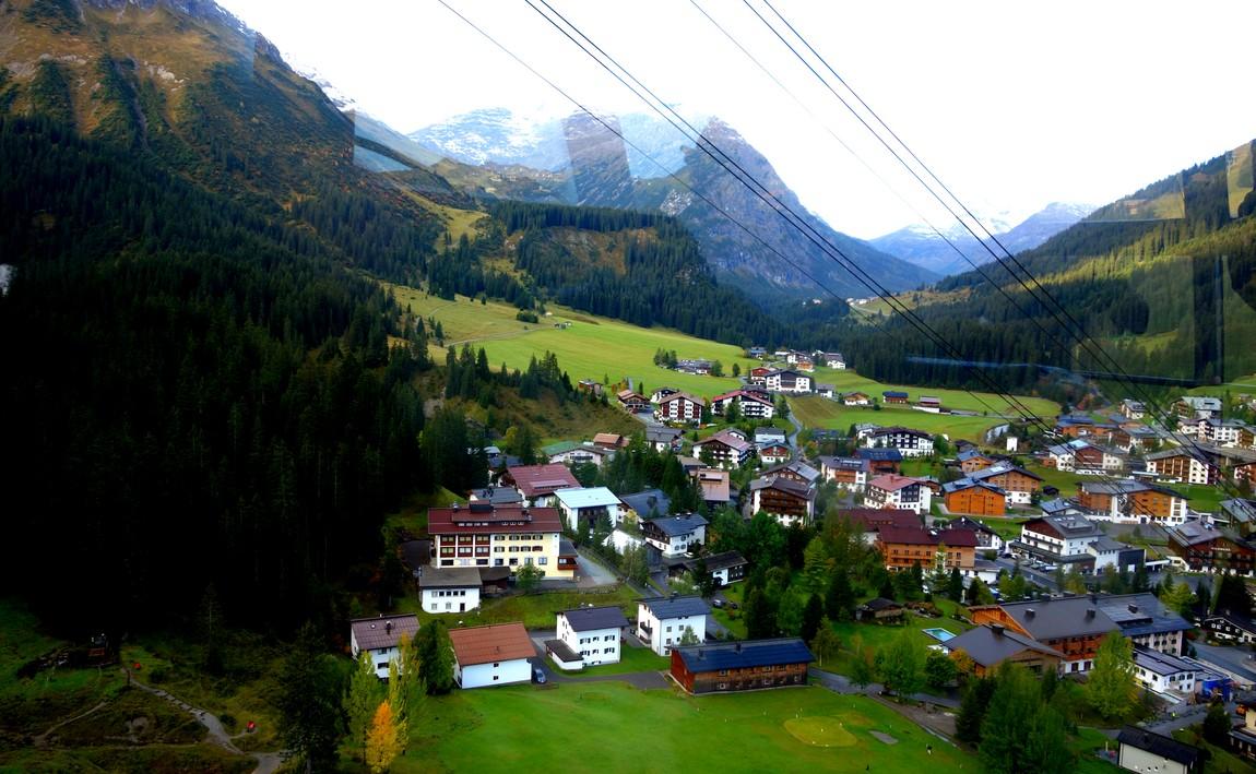 Канатная дорога Rüfikopfbahn -Австрия, Посёлок Лех