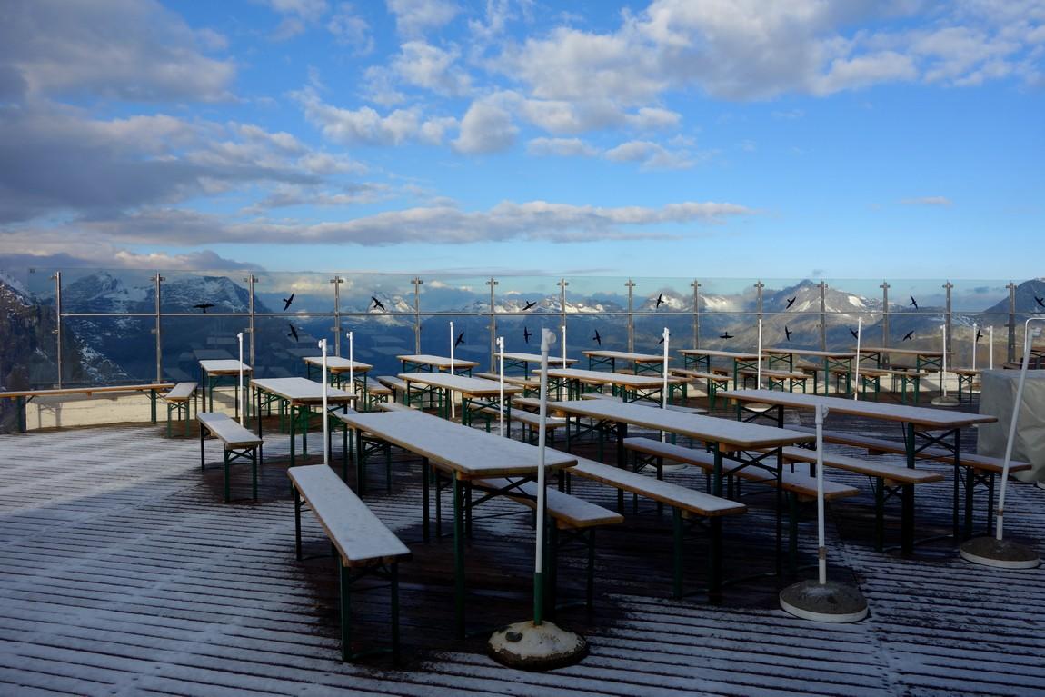 Панорама с горы Rüfikopf  - панорамная терраса (Австрия)