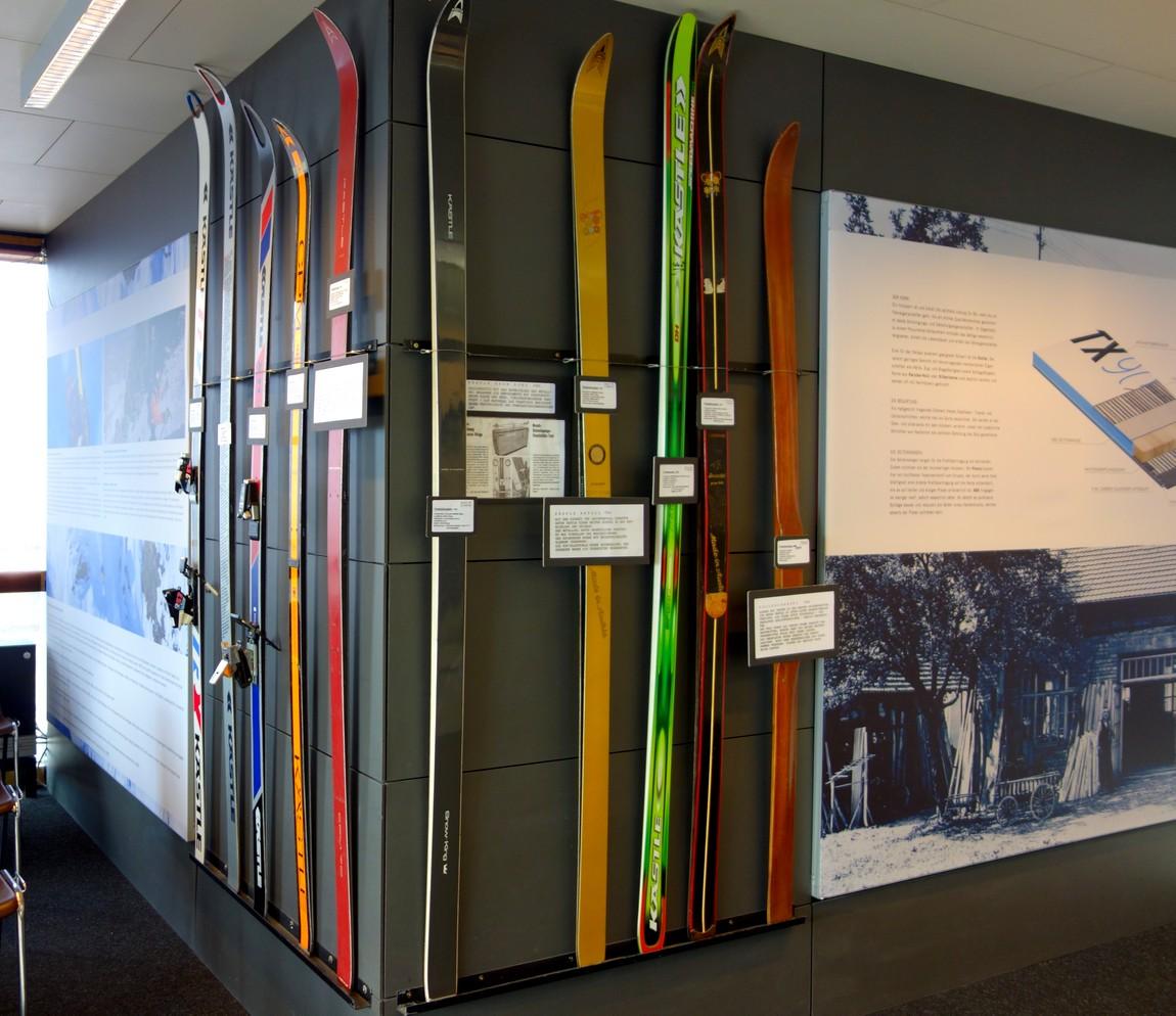 Музей лыж на верхней станции канатной дороги Rüfikopfbahn