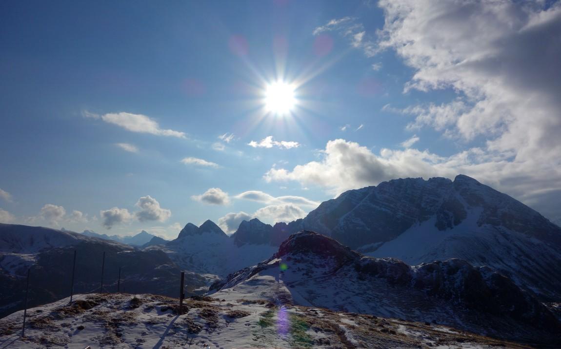 Панорама с горы Rüfikopf -  Австрия