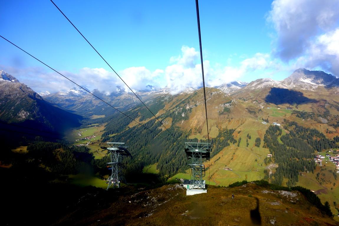 Канатная дорога в горах Австрии