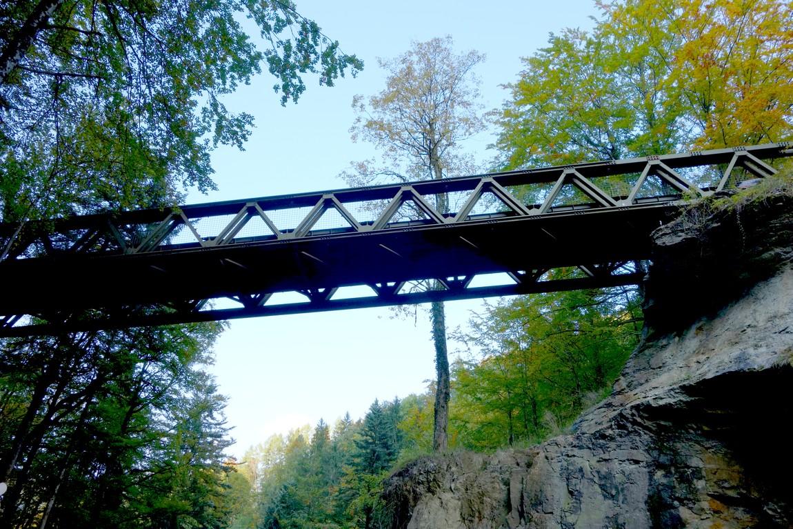 Мост над ущельем Раппенлох (Австрия)