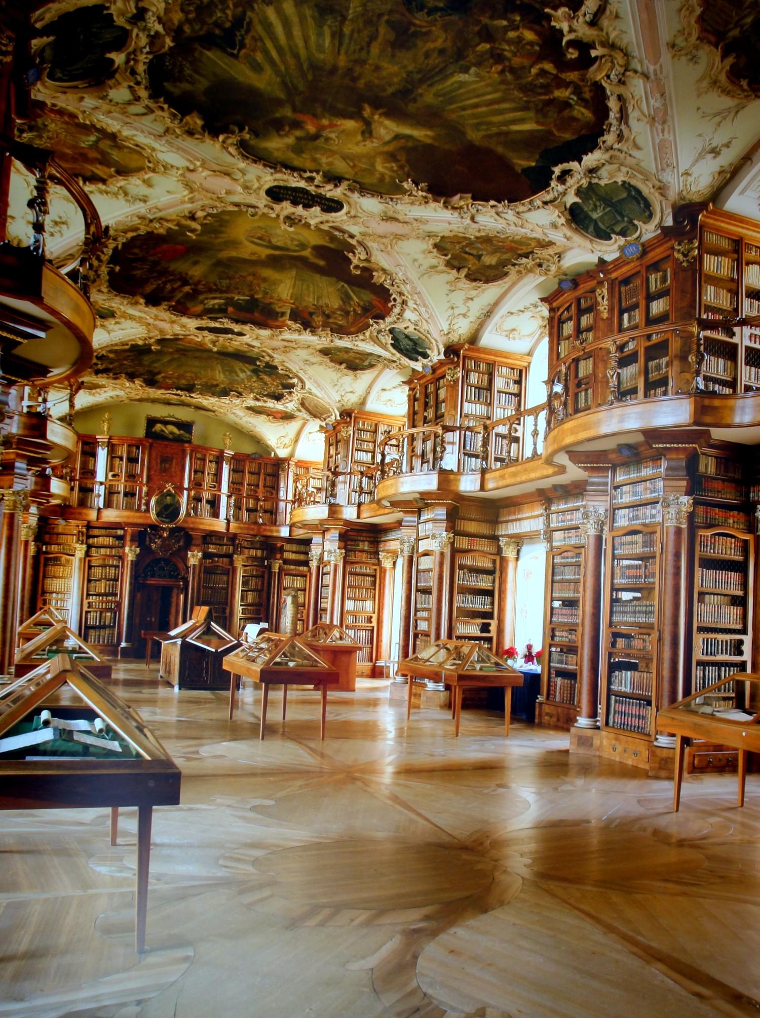 монастырь Санкт-Галлен - библиотека
