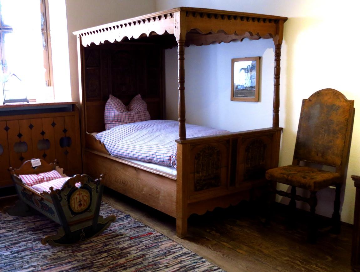 Старинная кровать в Австрии
