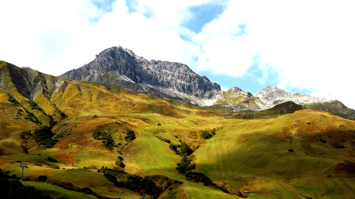 Горное плато Шлоскопф в Австрии